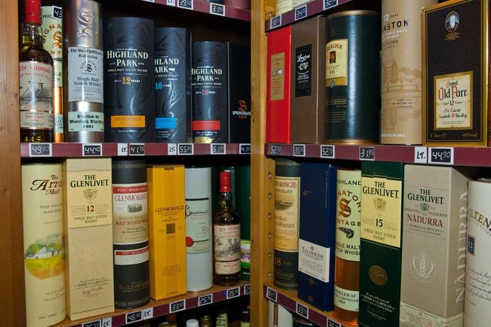 Vele soorten Whiskey's. Foto: Ronald den Dekker, WACON-images