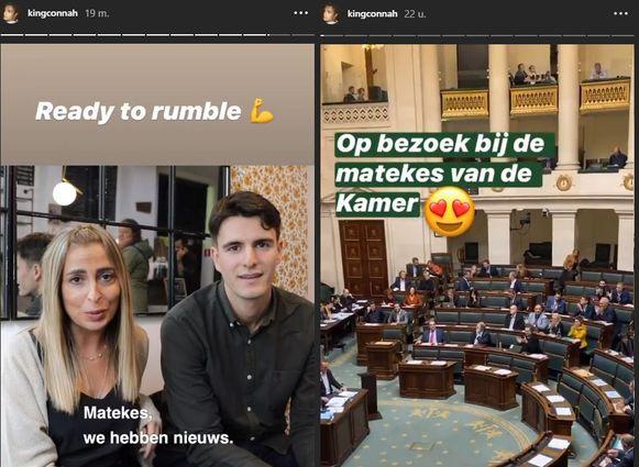Rousseau en zijn running mate Funda Oru kondigden het nieuws op Instagram aan, het medium waar Rousseau het graag heeft over zijn 'matekes'.
