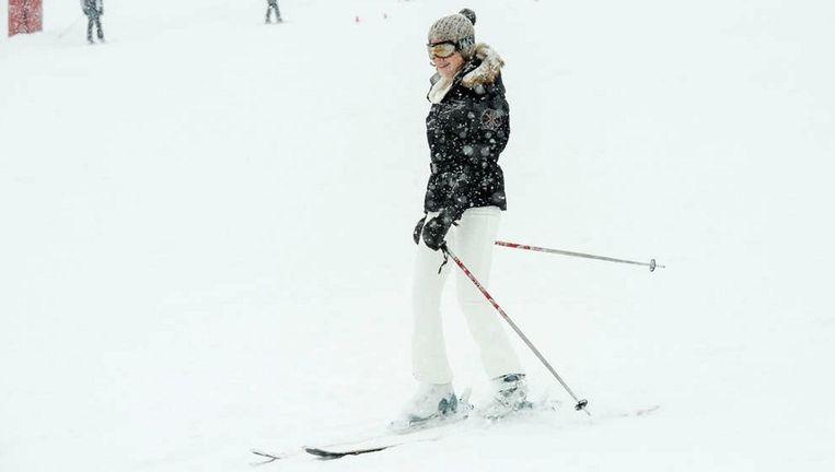 Mathilde op haar vorige skireis in het Zwitserse Verbier. Toen mochten er wel foto's gemaakt worden.