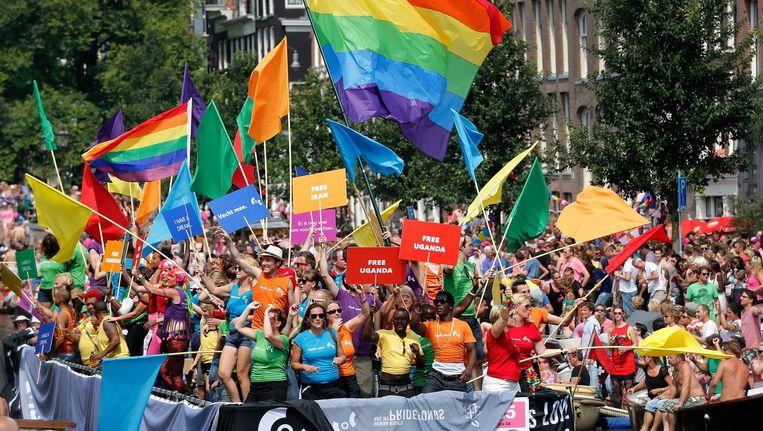 Volgens het OM kwamen de Algerijnen speciaal tijdens de Gaypride naar Amsterdam om feestvierders te beroven Beeld anp