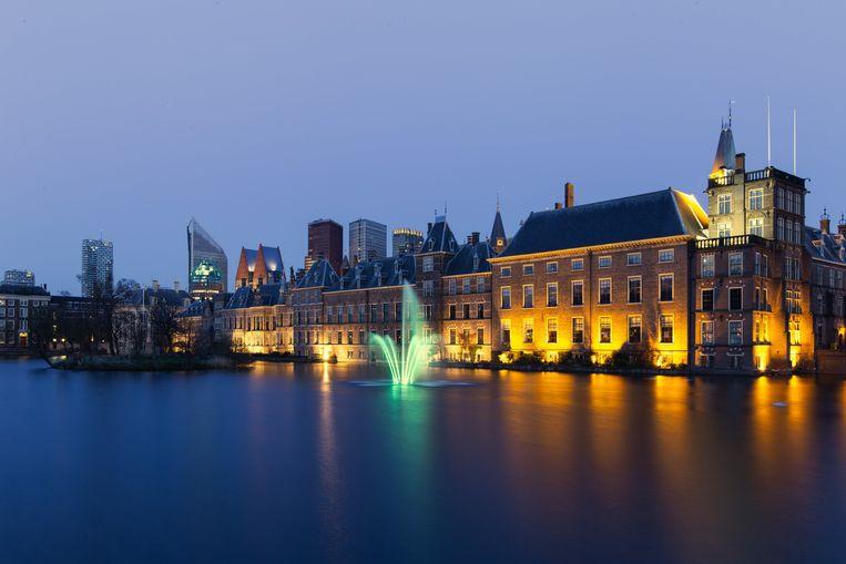 Het Binnenhof van buitenaf gezien. Beeld Photo News