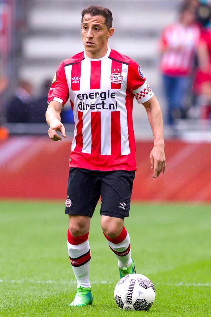Andrés Guardado in zijn derde en minste seizoen bij PSV.