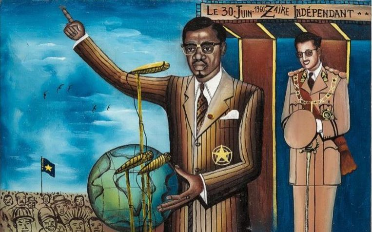 Met koning Boudewijn op de achtergrond geeft Patrice Lumumba, de eerste premier van het onafhankelijke Congo, zijn speech waarin hij de koloniale periode veroordeelt. Lumumba werd later vermoord. Twee weken later werd zijn regering afgezet in een staatsgreep, in januari 1961 werd hij door een vuurpeloton geëxecuteerd.