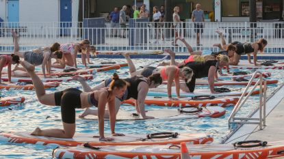 'Total body work-out' op supboard in openluchtzwembad Hamme is groot succes