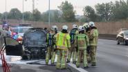 Wagen volledig uitgebrand op E40 in Erpe-Mere