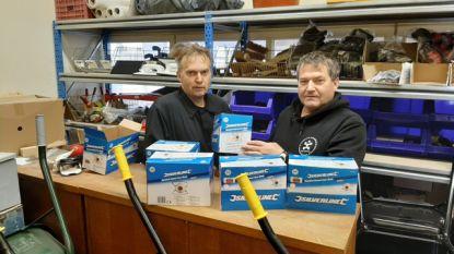 VTI Deinze schenkt stofmaskers aan Wit-Gele Kruis
