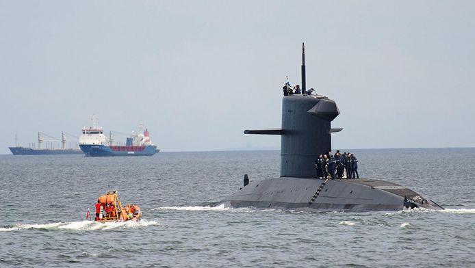 De Nederlandse onderzeeër HNLMS Bruinvis, ter illustratie.