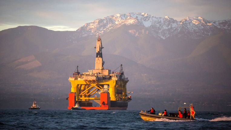 Olieplatform van Shell in de VS.