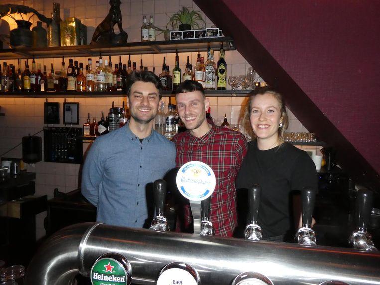 Barteam Max-Morris-Sacha, met beleid van links naar rechts: Maxim Carton, Morris van Breda en Sacha van Wetten. Beeld Hans van der Beek