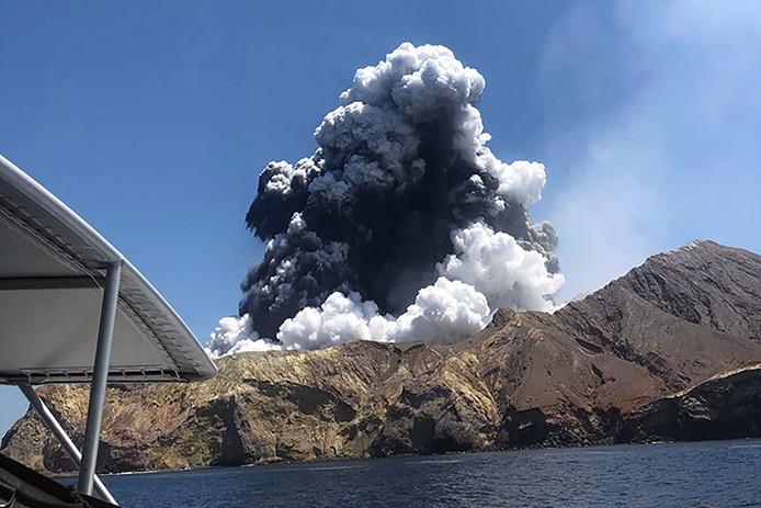 Le volcan sur White Island.