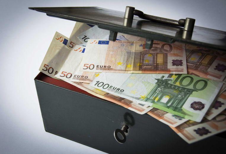 Een afsluitbaar kistje met geld.