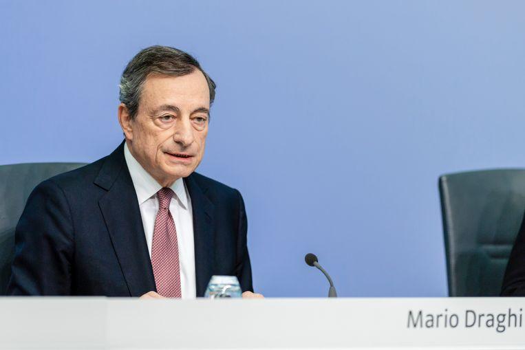 Afscheidnemend ECB-voorzitter Mario Draghi.