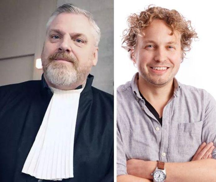Advocaat Peter Schouten (links) staat kroongetuige Nabil B. bij. 'Veel andere advocaten durfden niet', schrijft columnist Niels Herijgens. 'En ik begrijp ze. Wie brengt zichzelf en zijn naasten graag in gevaar, al is het dan voor een hoger doel?'