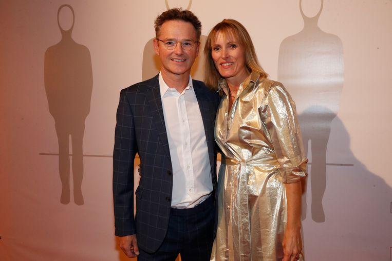 Sportjournalist Bart Raes met zijn partner Lisbeth.