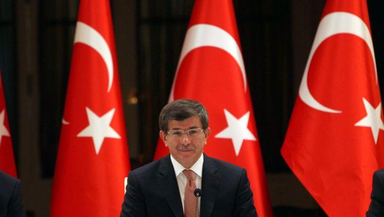 De Turkse minister van Buitenlandse Zaken, Ahmet Davutoglu Beeld afp