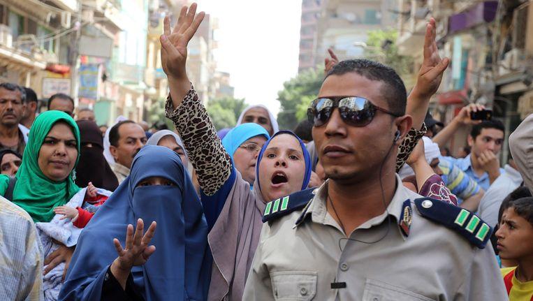 In april van dit jaar werden 683 aanhangers van Morsi ter dood veroordeeld. Vrienden en familie kwamen toen uit protest op straat.