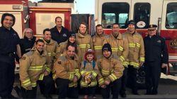 Matteo (5) heeft leukemie, maar de brandweer zorgt ervoor dat hij de verjaardag van zijn leven beleeft