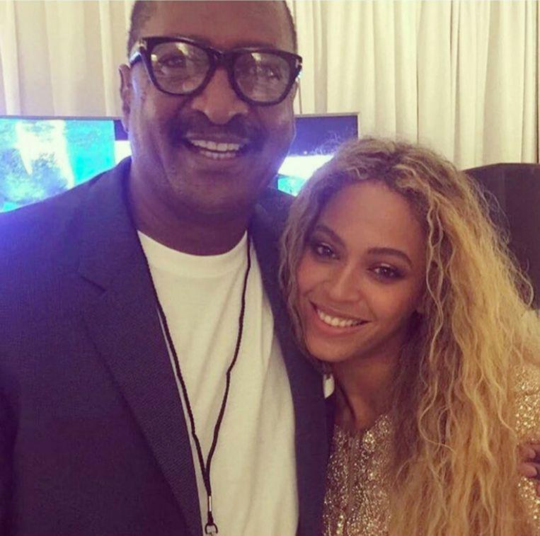Beyonce met haar vader Mathew Knowles