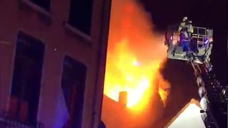 De brand in de Dampoortstraat.