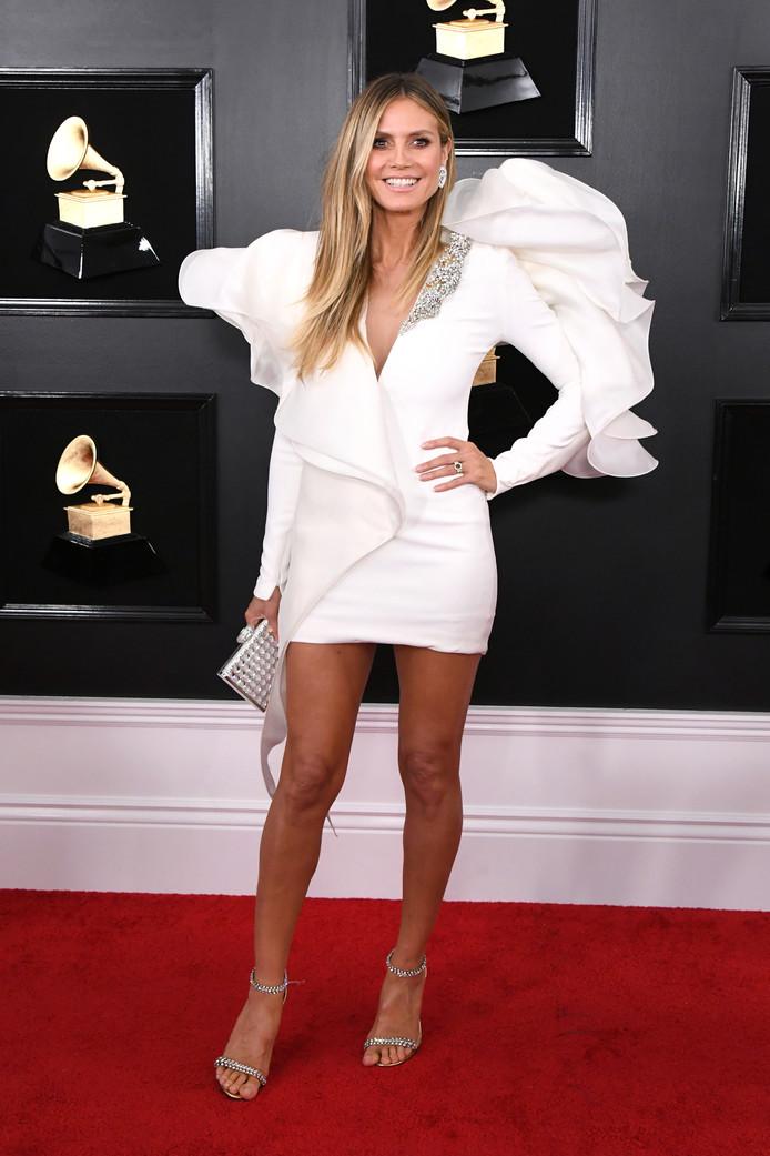 Heidi Klum bij de Grammy's zondagavond