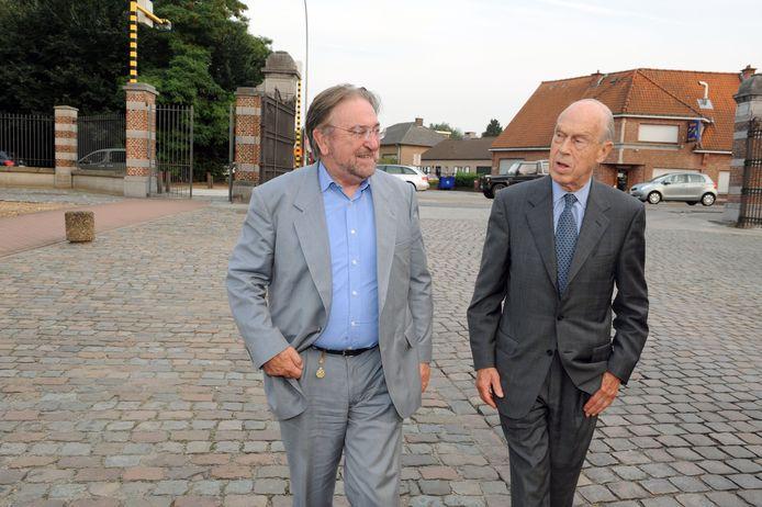 Frédéric Van Der Kelen verwelkomt Herman De Croo bij de voorstelling van de GP Impanis.