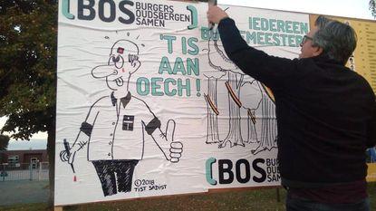 BOS zet cartoons op verkiezingsaffiches