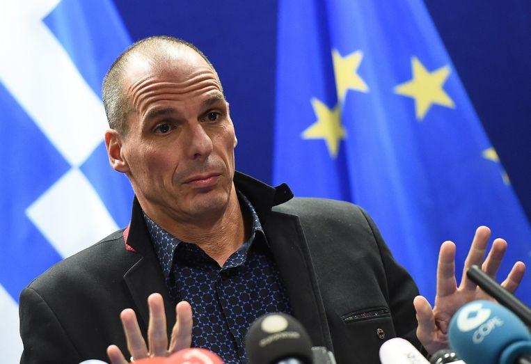De Griekse minister van Financiën, Yanis Varoufakis.