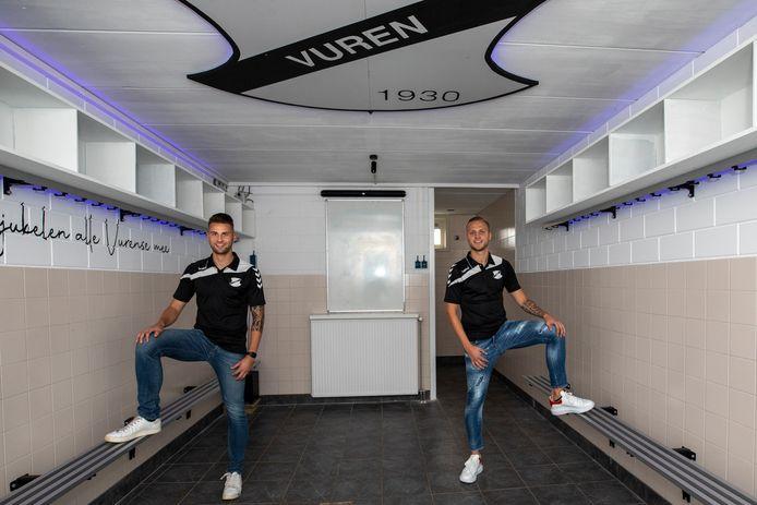 Bastiaan (links) en Fabian van Horssen: weer thuis bij Vuren. Inzet: de broers in hun Unitas-tijd, zo'n tien jaar terug.