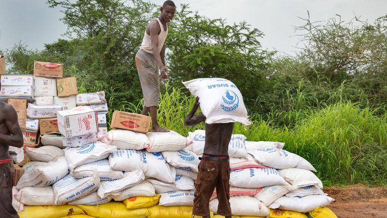 Voedselhulp in Zuid-Soedan. Beeld anp