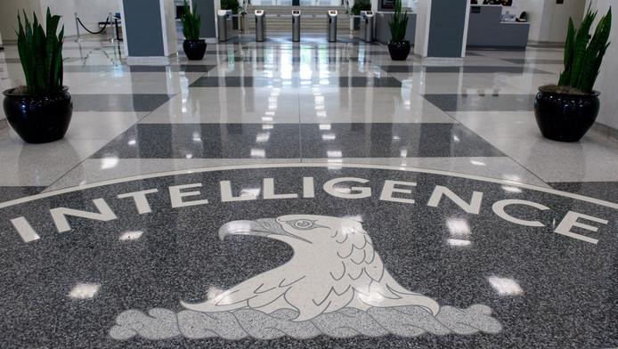 De toegangshal van het CIA-hoofdkantoor in Langley, Virginia.