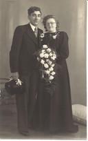 Trouwfoto van het echtpaar Verhoijsen-van Bussel uit Someren.
