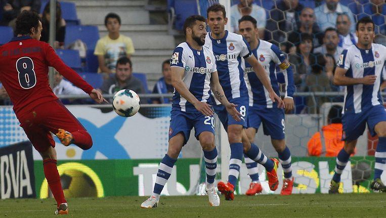 Het duel tussen Osasuna en Espanyol eindigde in een 1-1 gelijkspel. Beeld pro shots
