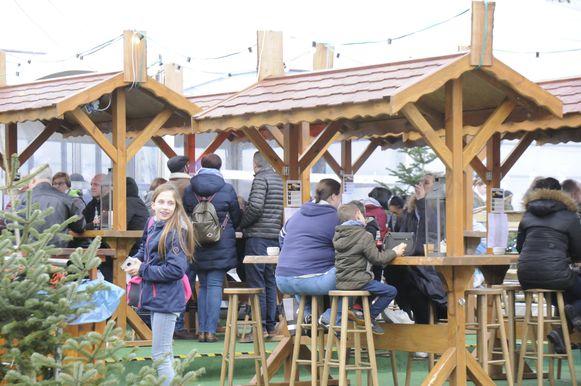 Het terrasje op Wintermagie was steeds goed gevuld.