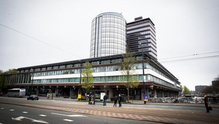 Exterieur van De Nederlandsche Bank in Amsterdam Beeld anp