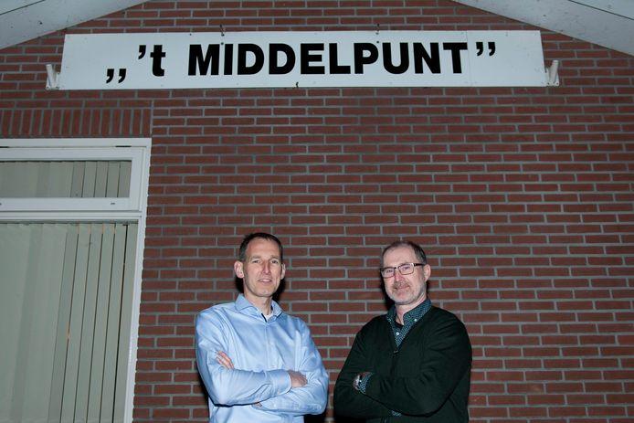 Op de foto secretaris Richard Pater (links) en voorzitter Bert van Herp (rechts).
