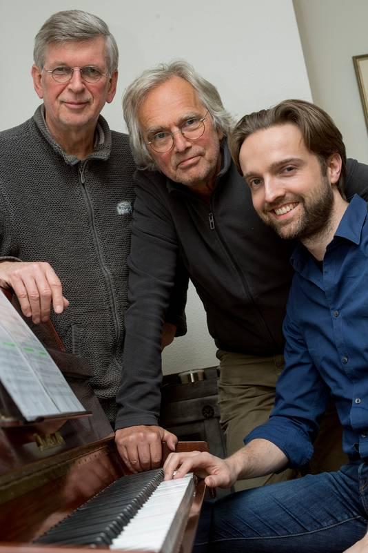 Van links naar rechts: Johan de Noord, Mario van der Linden en Paco van der Linden.
