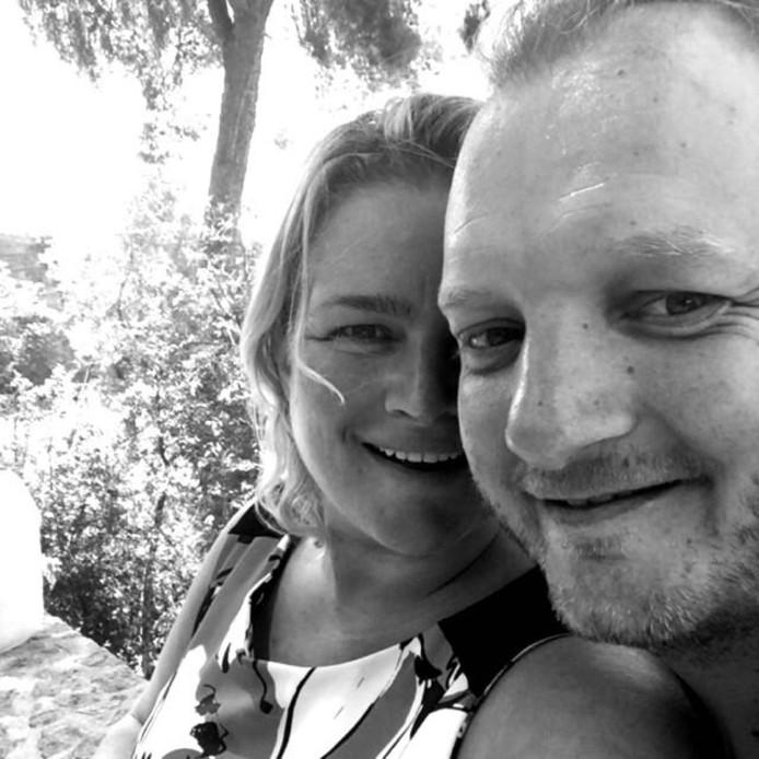 Amber de Bruin en Rutger Mudde eerder vandaag in Barcelona.