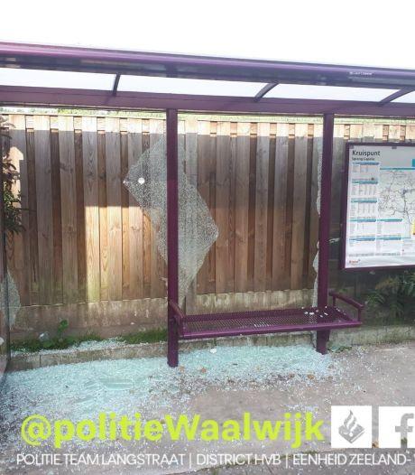 Bushalte in Sprang-Capelle het doelwit van vandalen: politie zoekt getuigen