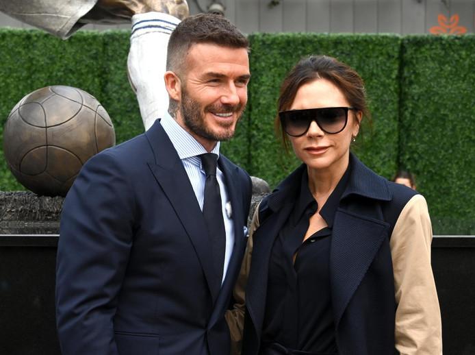 David Beckham et son épouse Victoria, en mars 2019, à Los Angeles.