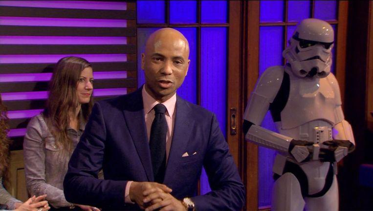 RTL Late Night besteedde aandacht aan de première van de nieuwe Star Wars-film. Beeld RTL
