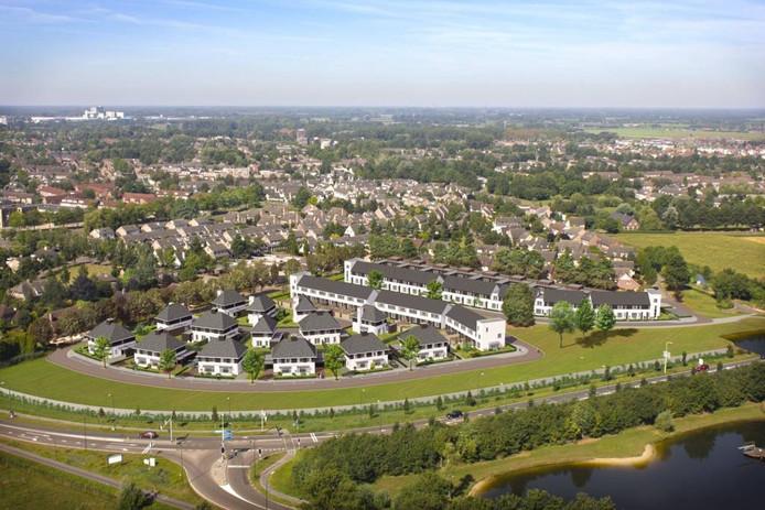 Impressie van de 73 woningen die deel uitmaken van de eerste fase van nieuwbouwplan de Bunderse Hoek in Veghel.