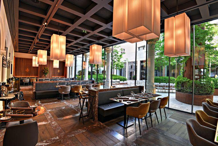 Het interieur van restaurant Tafelrond is stijlvol.