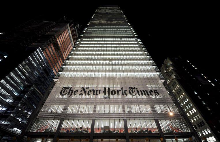 Het gebouw van The New York Times in New York.  Beeld EPA