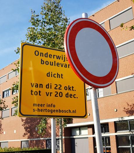 'Complete verbijstering' over verkeersproef in Bossche wijk: verkeer door woonwijk geloodst