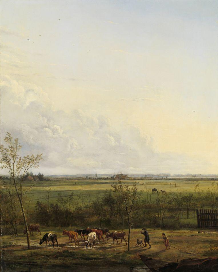 De weilanden bij 's-Graveland, in 1817 geschilderd door Pieter Gerardus van Os. Collectie Rijksmuseum Beeld Pieter Gerardus van Os / collectie Rijksmuseum
