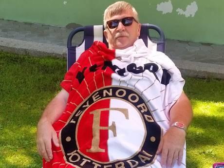 Feyenoorders op kampioensvakantie: het rood-wit reisde trots wereld rond