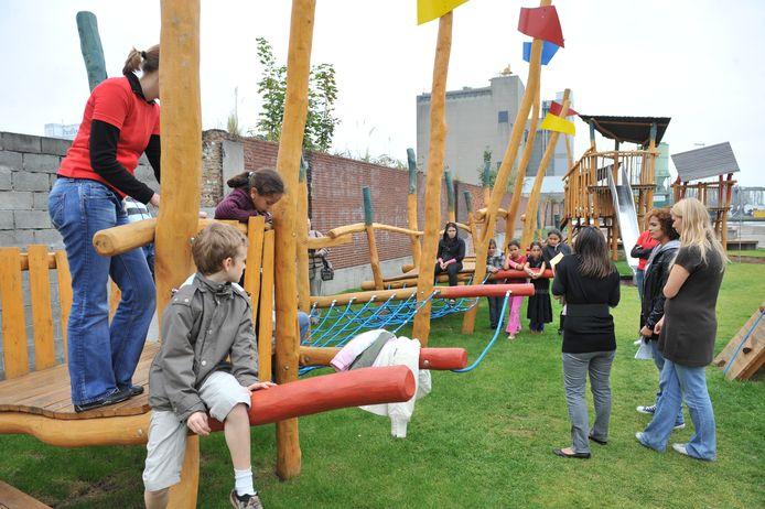 De speeltuin van het Dokske in Merksem.