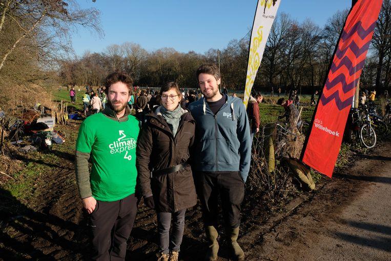 Pieter Apers, Zanna Vanrenterghem (beiden Climate Express) en Bart Carlies van BOS+