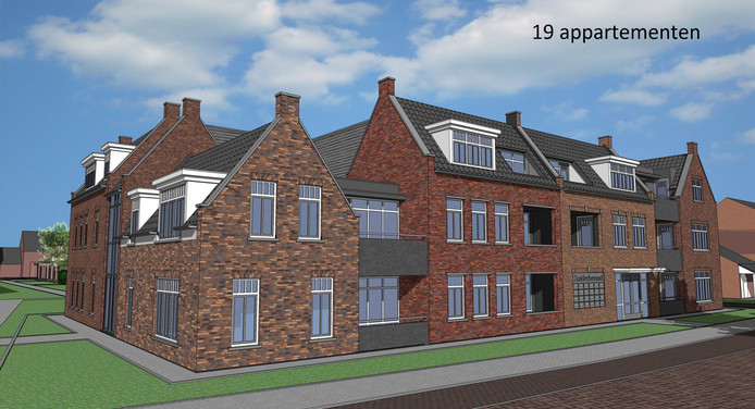 Een impressie van de 19 sociale huurwoningen aan de Koestraat.
