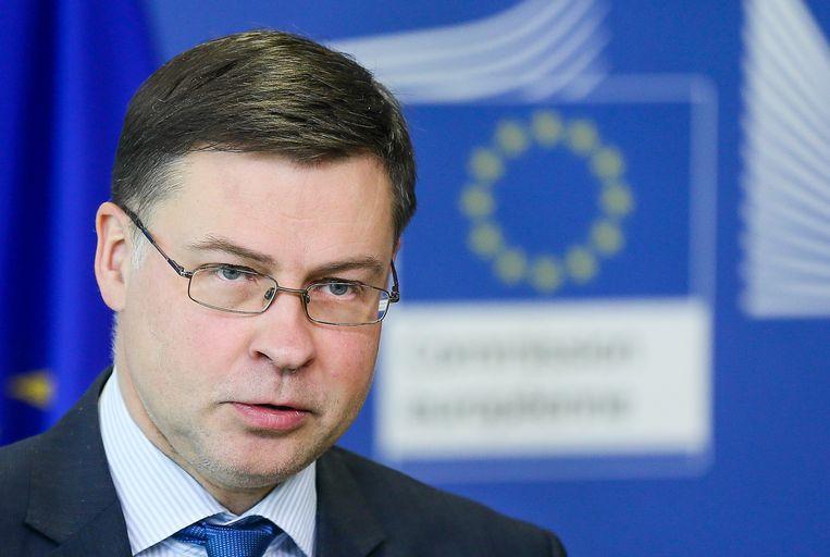 De Europese Commissie wil niet dat er tegen België een nieuwe 'tekortprocedure' wordt geopend wegens een te hoge schuldgraad, zei Valdis Dombrovskis, de vicevoorzitter van de Europese Commissie.